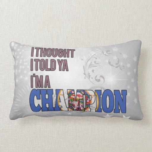 Minnesotan y un campeón almohada