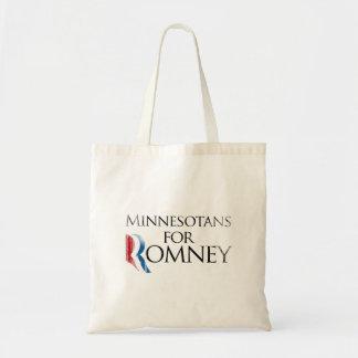 Minnesotans del vintage para Romney - .png Bolsa Lienzo