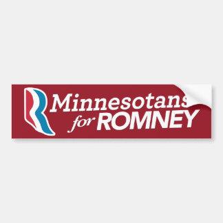 Minnesotans For Romney Bumper Sticker CUSTOM COLOR