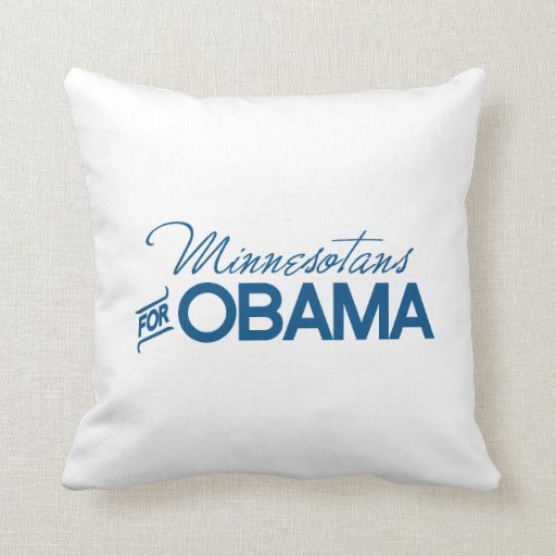Minnesotans para Obama - .png Cojines