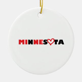 Minnesota's Heart is Mine Ceramic Ornament
