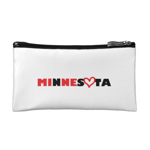 Minnesota's Heart is Mine Makeup Bag