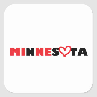 Minnesota's Heart is Mine Square Sticker