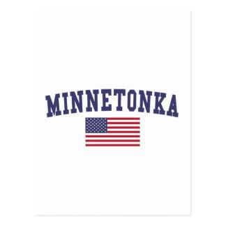 Minnetonka US Flag Postcard