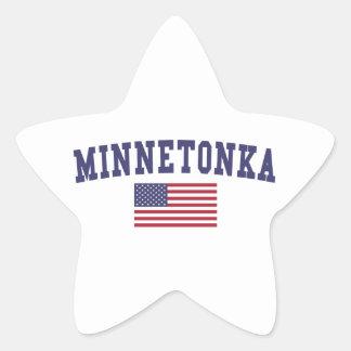 Minnetonka US Flag Star Sticker