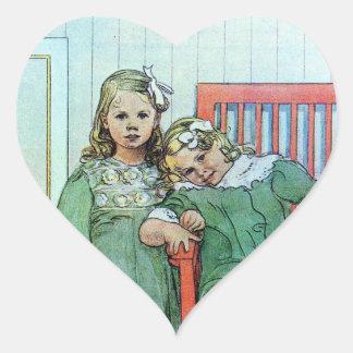 Minni un Essi Sisters Together Heart Sticker