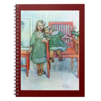 Minni un Essi Sisters Together Spiral Notebook