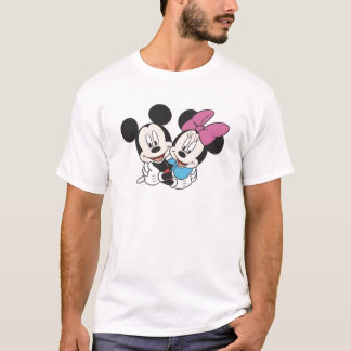 Minnie and Mickey Hugging T-Shirt