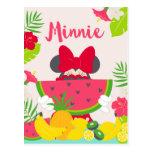 Minnie aventura tropical del   Minnie Tarjeta Postal