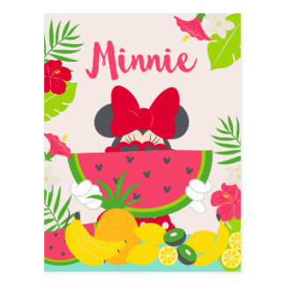 Minnie aventura tropical del | Minnie Tarjeta Postal