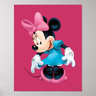 Minnie azul el | Curtseying Póster