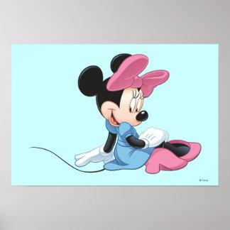 Minnie azul el | que se sienta póster