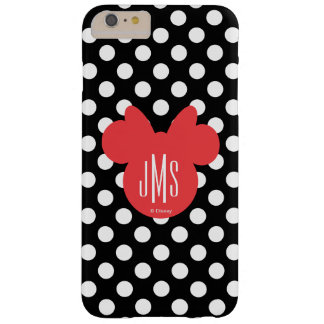 Minnie | Black and White Polka Dot Monogram Barely There iPhone 6 Plus Case