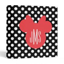 Minnie | Black and White Polka Dot Monogram Binder