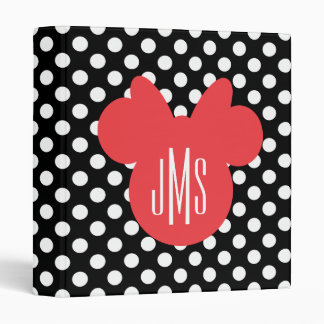 Minnie | Black and White Polka Dot Monogram Binder