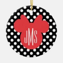 Stylized Marshmallow Silhouette Circle Ornament