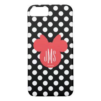 Minnie   Black and White Polka Dot Monogram iPhone 8/7 Case