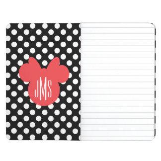 Minnie   Black and White Polka Dot Monogram Journal