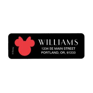 Minnie   Black and White Polka Dot Monogram Label