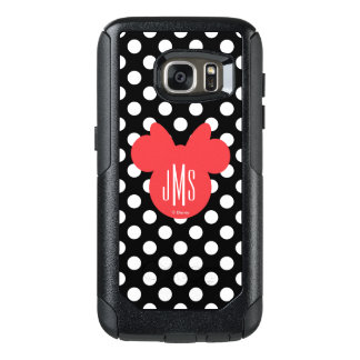 Minnie | Black and White Polka Dot Monogram OtterBox Samsung Galaxy S7 Case