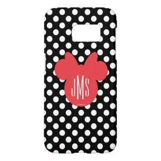 Minnie   Black and White Polka Dot Monogram Samsung Galaxy S7 Case