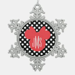 Pewter Snowflake Ornament with Descendants Evie: Future Queen design