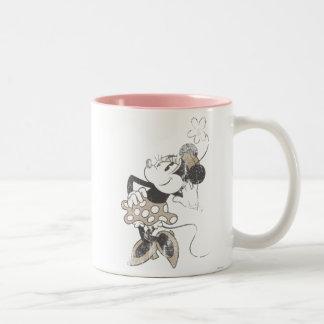 Minnie clásico el | apenado taza de dos tonos