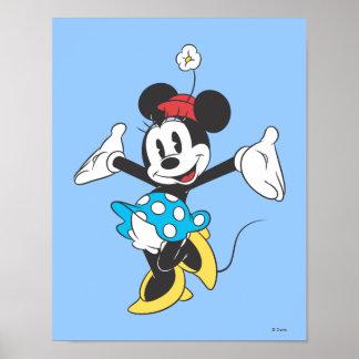 Minnie clásico el | emocionado póster