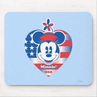 Minnie clásico el | patriótico tapete de raton