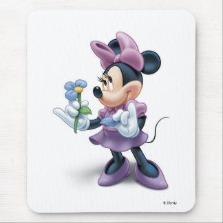 Minnie con la flor tapete de ratones