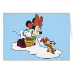 Minnie con un Chipmunk Tarjeton
