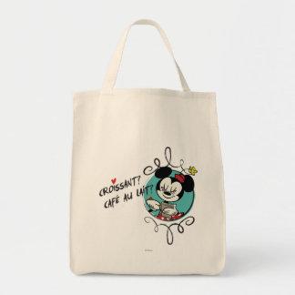 ¿Minnie - Croissant? Bolsa Tela Para La Compra