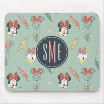 Minnie & Daisy Monogram | Dream Catcher Pattern Mouse Pad