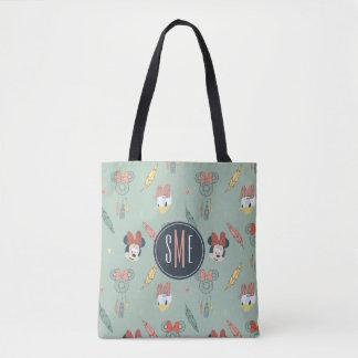 Minnie & Daisy Monogram | Dream Catcher Pattern Tote Bag