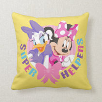 Minnie & Daisy | Super Helpers Throw Pillow
