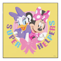 Minnie & Daisy | Super Helpers Wood Wall Art