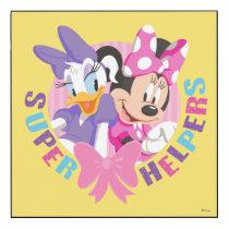 Minnie & Daisy | Super Helpers Wood Wall Art