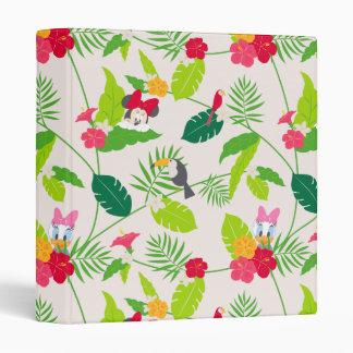 Minnie & Daisy | Tropical Pattern 3 Ring Binder