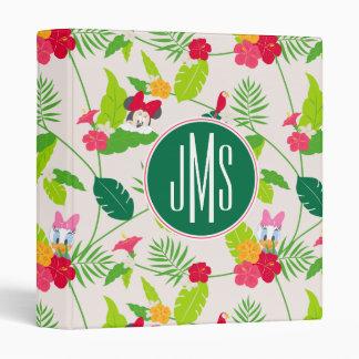 Minnie & Daisy | Tropical Pattern Monogram 3 Ring Binder