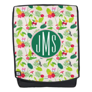 Disney Themed Minnie & Daisy | Tropical Pattern Monogram Backpack