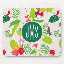 Minnie & Daisy | Tropical Pattern Monogram Mouse Pad