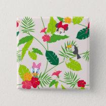 Minnie & Daisy   Tropical Pattern Pinback Button
