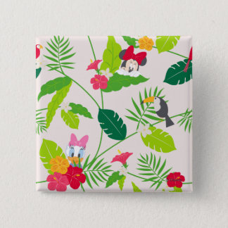 Minnie & Daisy | Tropical Pattern Pinback Button