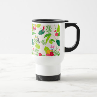 Minnie & Daisy | Tropical Pattern Travel Mug