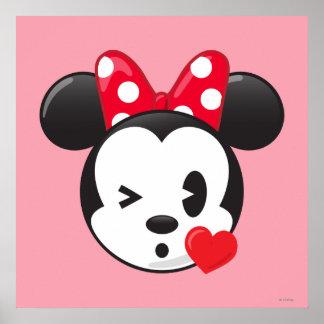 Minnie de moda el   Emoji coqueto Póster