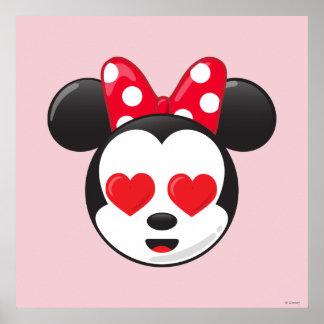 Minnie de moda el   en el amor Emoji Póster