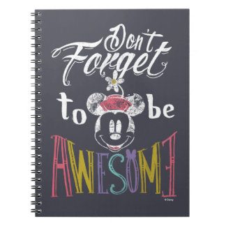 Minnie | Don't Forget To Be Awesome Notebook