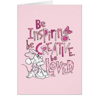Minnie el | esté inspirando tarjeta de felicitación