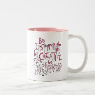 Minnie el | esté inspirando taza de café de dos colores