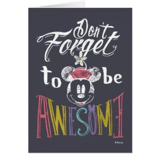 Minnie el | no olvida ser impresionante tarjeta de felicitación